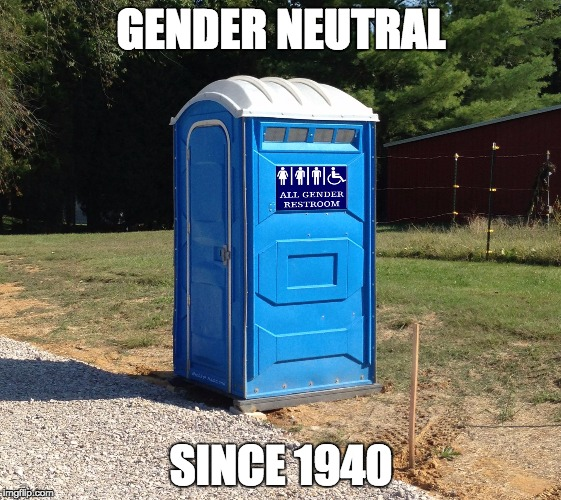 Image result for porta potties gender neutral