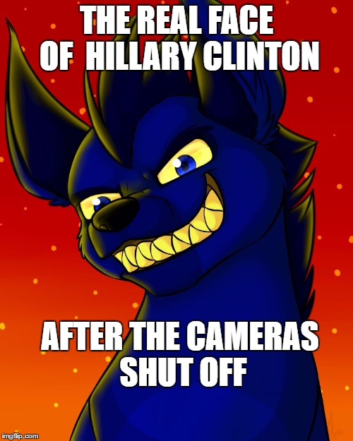 Tonight we strike (Lion Guard) | THE REAL FACE OF HILLARY CLINTON AFTER THE CAMERAS SHUT OFF | image tagged in tonight we strike lion guard | made w/ Imgflip meme maker