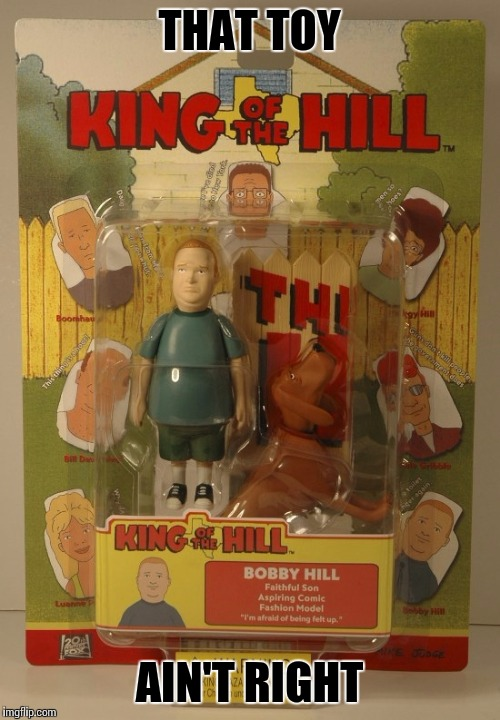 Toy Bob | THAT TOY AIN'T RIGHT | image tagged in king of the hill,hank hill,toy | made w/ Imgflip meme maker