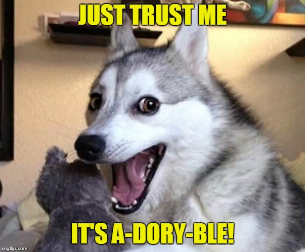 JUST TRUST ME IT'S A-DORY-BLE! | made w/ Imgflip meme maker