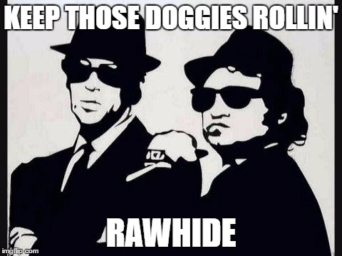 KEEP THOSE DOGGIES ROLLIN' RAWHIDE | made w/ Imgflip meme maker