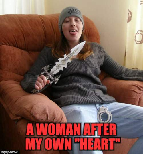 "A WOMAN AFTER MY OWN ""HEART"" 