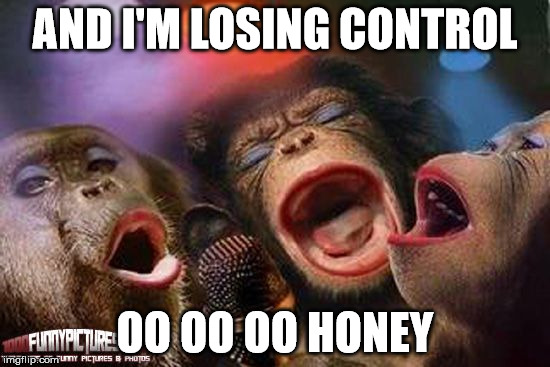 AND I'M LOSING CONTROL OO OO OO HONEY | made w/ Imgflip meme maker