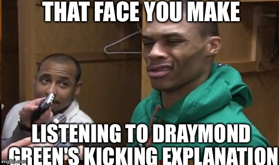 Russell Westbrook Funny Face