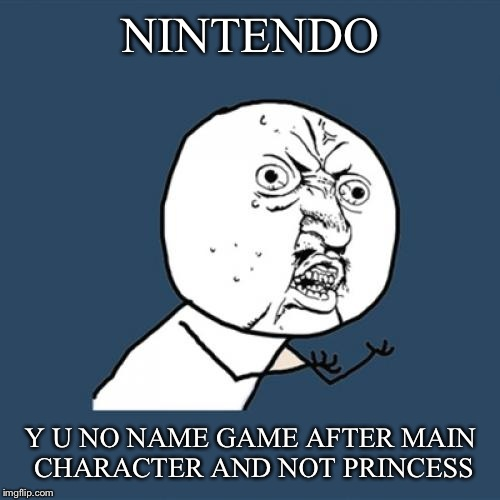 Y U No Meme | NINTENDO Y U NO NAME GAME AFTER MAIN CHARACTER AND NOT PRINCESS | image tagged in memes,y u no | made w/ Imgflip meme maker