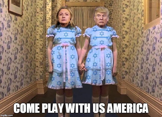 COME PLAY WITH US AMERICA | image tagged in hillary clinton,donald trump,bernie2016 | made w/ Imgflip meme maker
