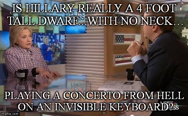 14o4wb hillary evil neckless dwarf playing invisible keyboard meme,Keyboard Meme