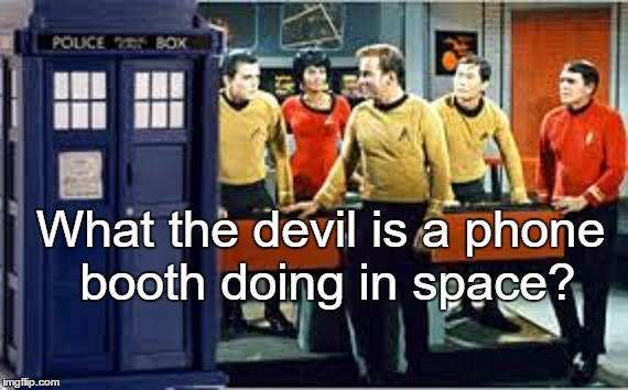 What the devil is a phone booth doing in space? | made w/ Imgflip meme maker