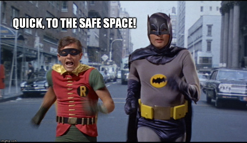 QUICK, TO THE SAFE SPACE! | made w/ Imgflip meme maker