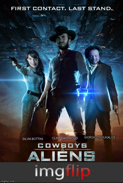 If only I could make the movie too... | GIORGIO TSOUKALOS SILVIA BOTTINI CLINT EASTWOOD | image tagged in first world problems,clint eastwood,ancient aliens guy,cowboys  aliens | made w/ Imgflip meme maker