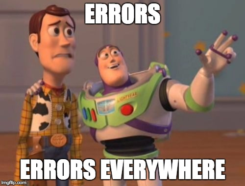 Errors, Errors everywhere