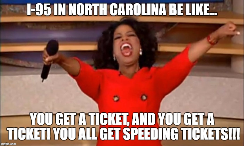 i-95 speeding ticket