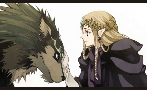 High Quality Twilight Princess Zelda and wolf link Blank Meme Template