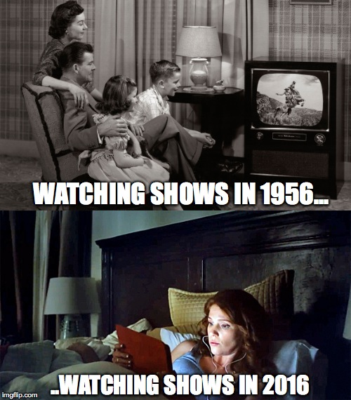 evolution of watching shows - Imgflip
