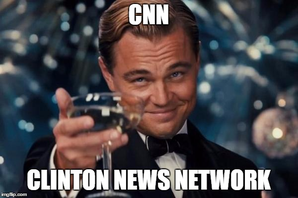 Leonardo Dicaprio Cheers Meme | CNN CLINTON NEWS NETWORK | image tagged in memes,leonardo dicaprio cheers | made w/ Imgflip meme maker