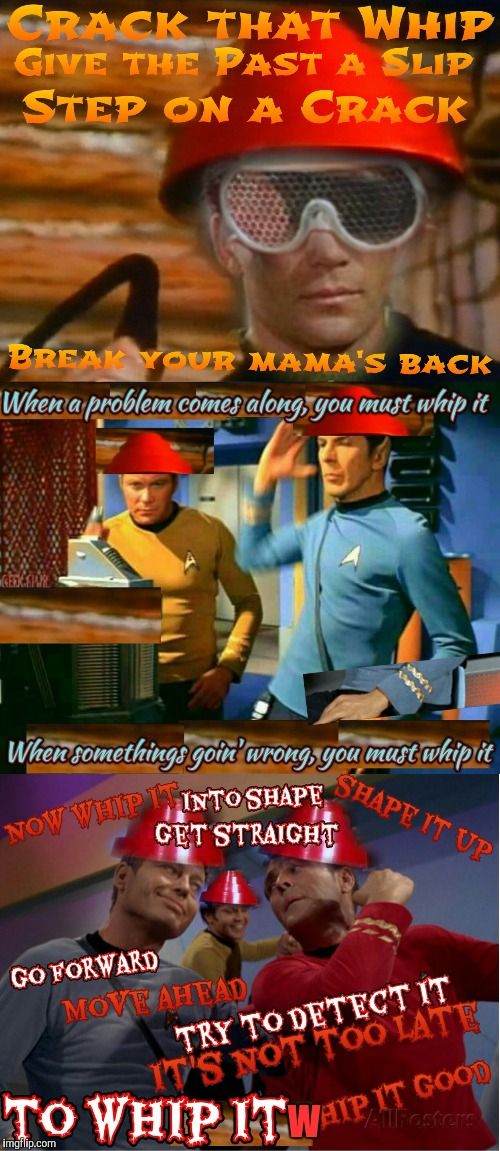 DevoTrek | W | image tagged in star trek,devo,meme,nostalgia | made w/ Imgflip meme maker
