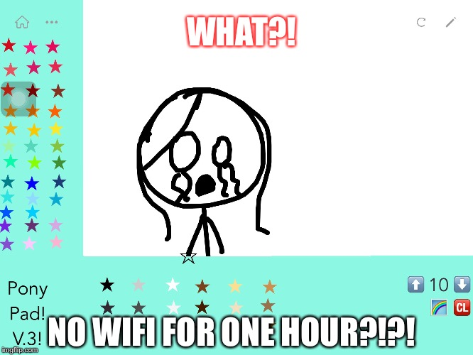 WHAT?! NO WIFI FOR ONE HOUR?!?! | image tagged in crying girl | made w/ Imgflip meme maker