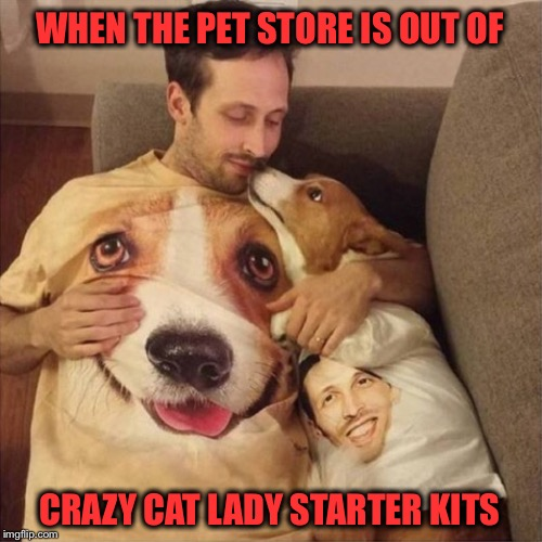 Forever Alone | WHEN THE PET STORE IS OUT OF CRAZY CAT LADY STARTER KITS | image tagged in memes,funny,pets,forever alone,crazy cat lady | made w/ Imgflip meme maker