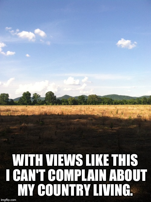 There's Just Something About Living In The Country..., | WITH VIEWS LIKE THIS I CAN'T COMPLAIN ABOUT MY COUNTRY LIVING. | image tagged in memes,country,lynch1979,ky | made w/ Imgflip meme maker