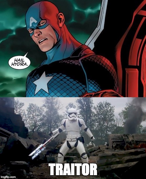 traitor | TRAITOR | image tagged in traitor,hail hydra,captain america | made w/ Imgflip meme maker