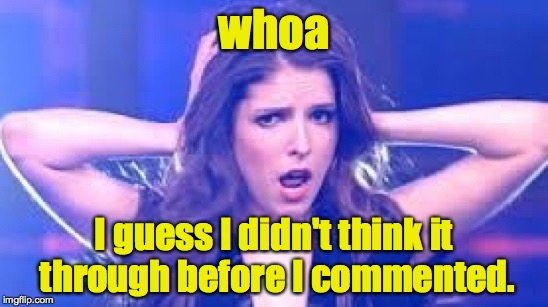 I don't believe it Anna | whoa I guess I didn't think it through before I commented. | image tagged in i don't believe it anna | made w/ Imgflip meme maker