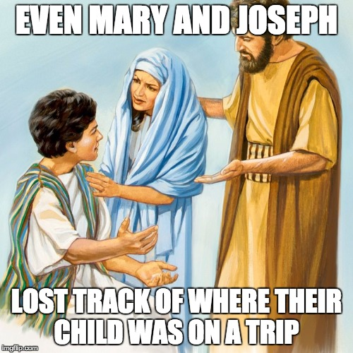 Mary And Joseph Lost Track Of Where Jesus Was No Parents Are