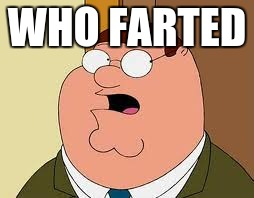 Family Guy Peter Meme |  WHO FARTED | image tagged in memes,family guy peter | made w/ Imgflip meme maker