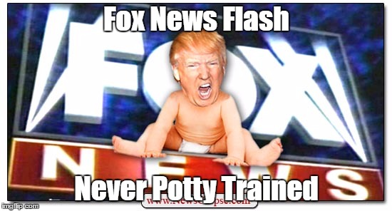 Fox News Flash Never Potty Trained | made w/ Imgflip meme maker