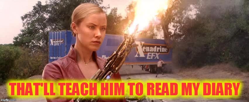 THAT'LL TEACH HIM TO READ MY DIARY | made w/ Imgflip meme maker