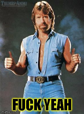 chuck norris approves | F**K YEAH | image tagged in chuck norris approves | made w/ Imgflip meme maker