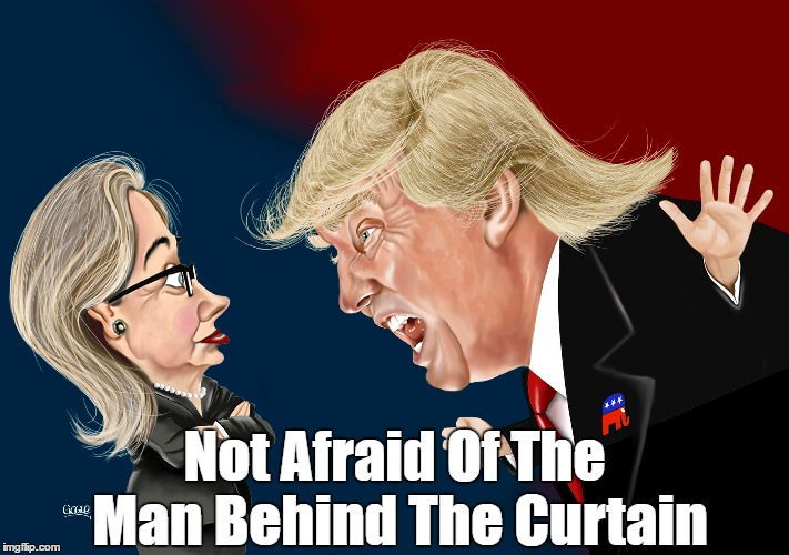Not Afraid Of The Man Behind The Curtain | made w/ Imgflip meme maker