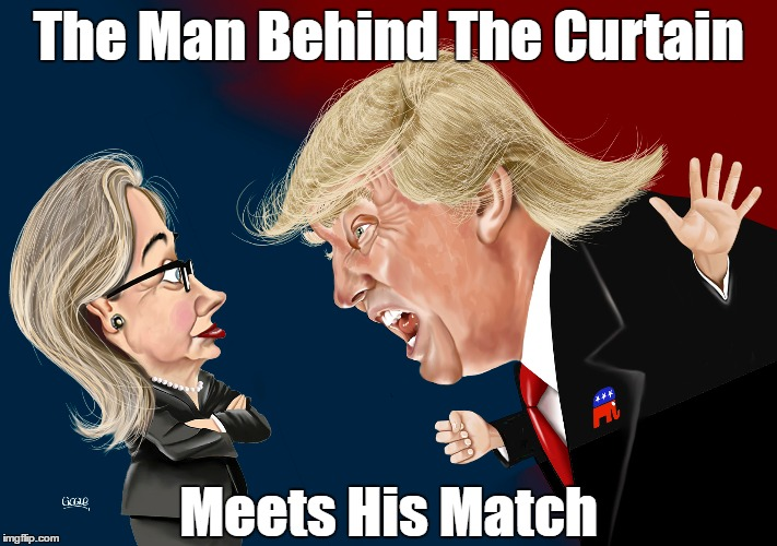 The Man Behind The Curtain Meets His Match | made w/ Imgflip meme maker