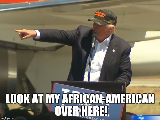 15a6f4 donald trump pointing imgflip,African American Memes