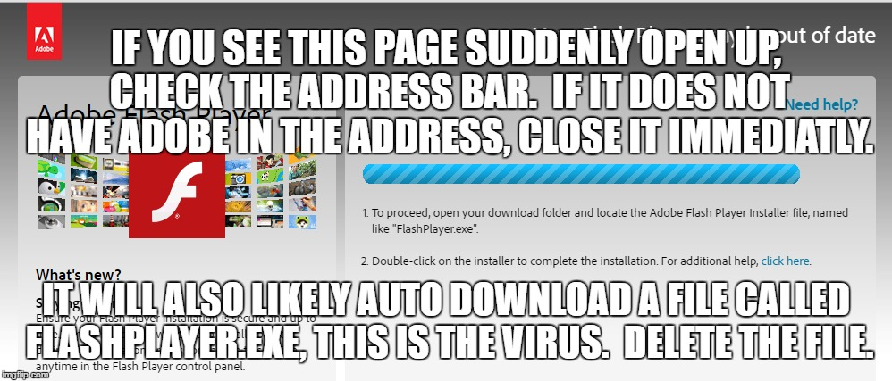 Flashplayer Exe Is A Virus Imgflip