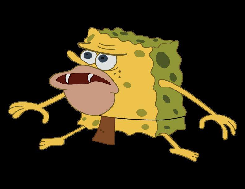 caveman spongebob Blank Template - Imgflip