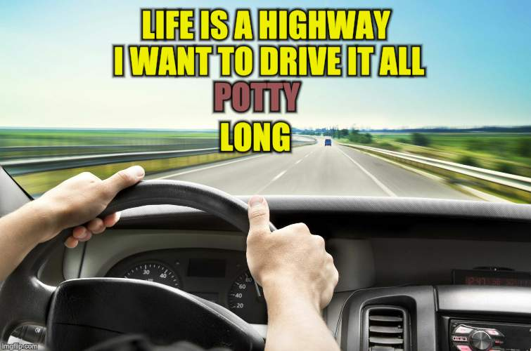 Before I found IMG | LIFE IS A HIGHWAY I WANT TO DRIVE IT ALL POTTY LONG | image tagged in before i found img | made w/ Imgflip meme maker