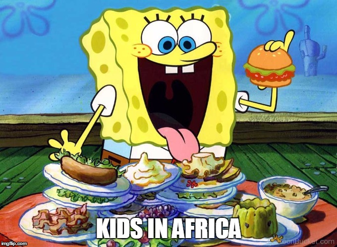 Childhood Hunger | KIDS IN AFRICA | image tagged in kids,food,world hunger | made w/ Imgflip meme maker