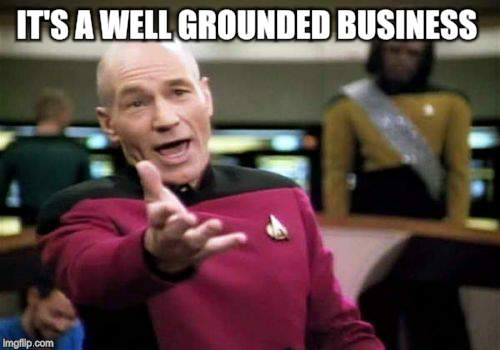 Picard Wtf Meme | IT'S A WELL GROUNDED BUSINESS | image tagged in memes,picard wtf | made w/ Imgflip meme maker