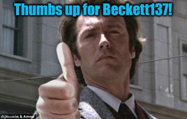 Thumbs up for Beckett137! | made w/ Imgflip meme maker