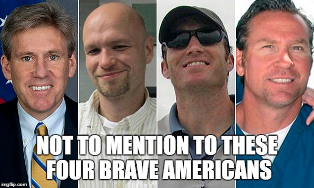 NOT TO MENTION TO THESE FOUR BRAVE AMERICANS | made w/ Imgflip meme maker