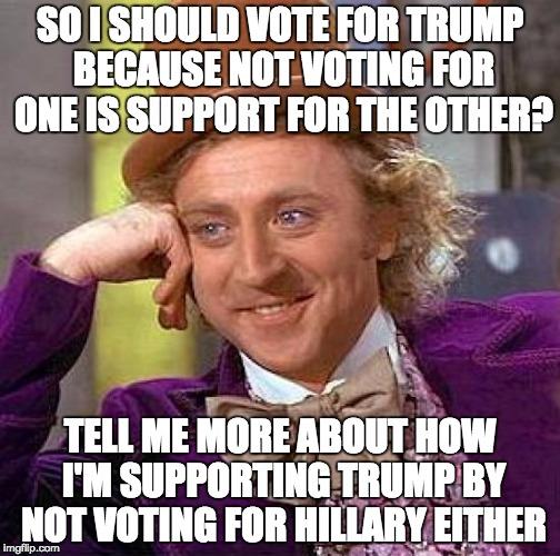 Funny Vote Trump Meme : Creepy condescending wonka meme imgflip