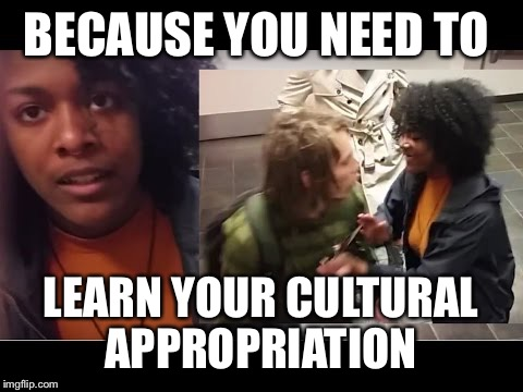 Cultural Appropriation  | BECAUSE YOU NEED TO LEARN YOUR CULTURAL APPROPRIATION | image tagged in cultural appropriation | made w/ Imgflip meme maker
