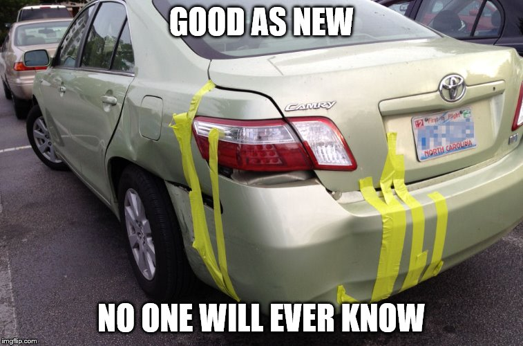 GOOD AS NEW NO ONE WILL EVER KNOW | made w/ Imgflip meme maker