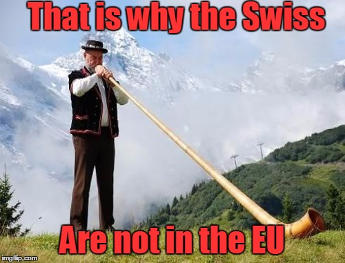 That is why the Swiss Are not in the EU | made w/ Imgflip meme maker