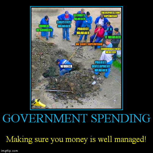 Waste not, want not! | GOVERNMENT SPENDING | Making sure you money is well managed! | image tagged in funny,demotivationals,government,spending,money in politics,waste of money | made w/ Imgflip demotivational maker