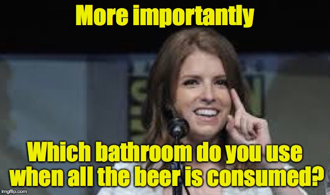 Condescending Anna | More importantly Which bathroom do you use when all the beer is consumed? | image tagged in condescending anna | made w/ Imgflip meme maker