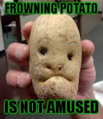 FROWNING POTATO IS NOT AMUSED | made w/ Imgflip meme maker