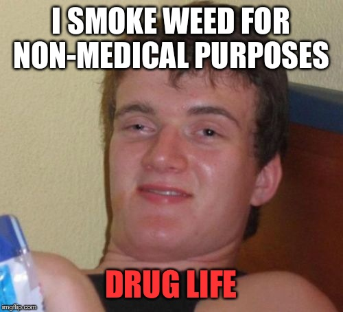 10 guy drug life  | I SMOKE WEED FOR NON-MEDICAL PURPOSES DRUG LIFE | image tagged in memes,10 guy,funny,drugs | made w/ Imgflip meme maker