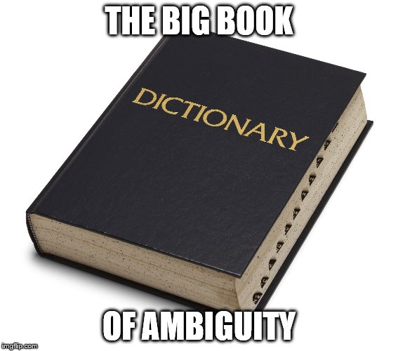 THE BIG BOOK OF AMBIGUITY | made w/ Imgflip meme maker