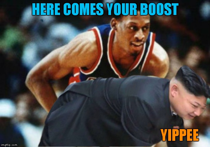 HERE COMES YOUR BOOST YIPPEE | made w/ Imgflip meme maker